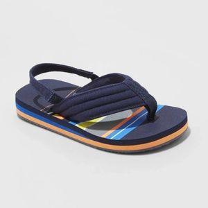 Toddler Boys Leo Flip Flop Sandals - Navy